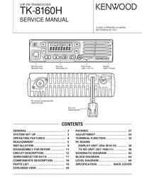 Manual de servicio Kenwood TK-8160H
