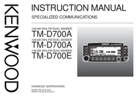 User Manual Kenwood TM-D700E