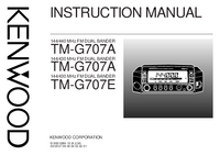 User Manual Kenwood TM-G707E