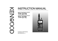 User Manual Kenwood TH-D7A