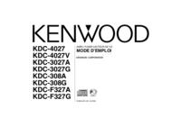 Manuel de l'utilisateur Kenwood KDC-3027G