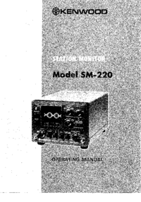 Serwis i User Manual Kenwood SM-220