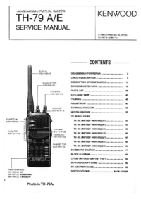 Service Manual Kenwood TH-79 E