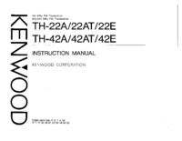 User Manual Kenwood TH-22AT