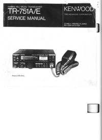 Service Manual Kenwood TR-751E