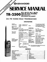 manuel de réparation Kenwood TR-2500