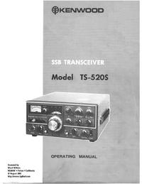 Bedienungsanleitung mit Schaltplan Kenwood TS-520S