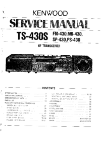 Service Manual Kenwood FM-430