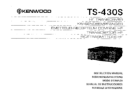 User Manual with schematics Kenwood TS-430S