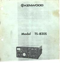Manual del usuario Kenwood TS-820S