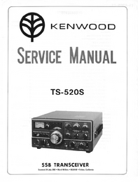 Service Manual Kenwood TS-520S