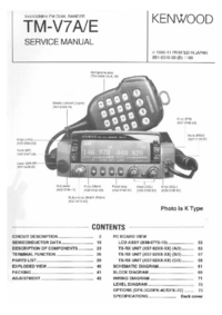 Service Manual Kenwood TM-V7A/E