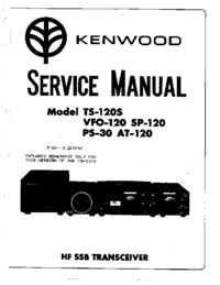 Manual de servicio Kenwood TS-120S