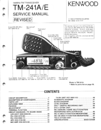Service Manual Kenwood TM-241A