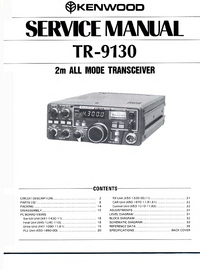 Manual de servicio Kenwood TR-9130