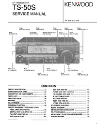 Manual de servicio Kenwood TS-50S