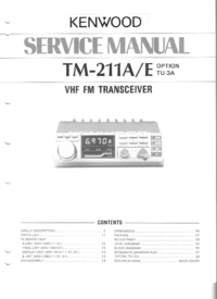 Manual de servicio Kenwood TM-211A