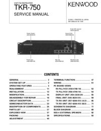 Service Manual Kenwood TKR-750