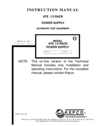 Kepco-7028-Manual-Page-1-Picture