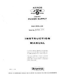 Serwis i User Manual Kepco JQE 55-2 (M)