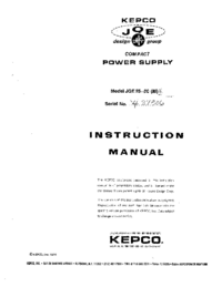 Serwis i User Manual Kepco JQE 55-20