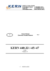 Руководство по техническому обслуживанию Kern 440-45