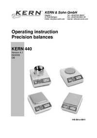 Manual del usuario Kern 440-33N