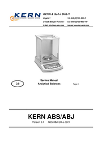 Service Manual Kern ABS