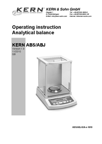 Manual del usuario Kern ABJ 80-4M