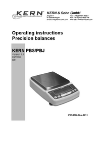 User Manual Kern PBS 620-3M