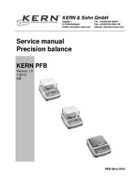 Руководство по техническому обслуживанию Kern PFB