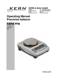 User Manual Kern PFB 1200-2