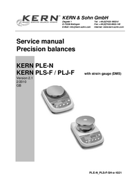 Manual de servicio Kern PLS 2100-2FM