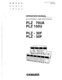 User Manual Kikusi PLZ 50F