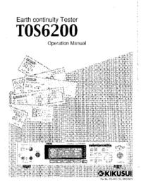 Manuale d'uso Kikusi T0S 6200