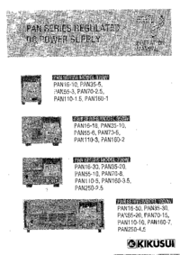 Manual del usuario Kikusi PAN35-30
