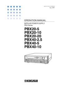 User Manual Kikusi PBX40-10