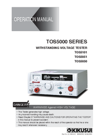 User Manual Kikusi TOS5050