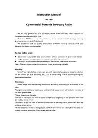 User Manual Kirisun PT280