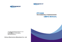Manual do Usuário Kirisun PT3300