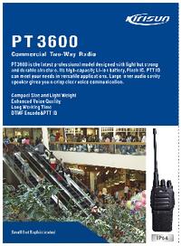 Fiche technique Kirisun PT3600