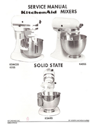 Manual de servicio KitchenAid KSMC50