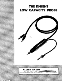Manual del usuario Knight LOW CAPACITY PROBE 38K153