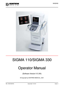 Manual del usuario KontronMedical SIGMA 330