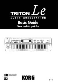 Instrukcja obsługi Korg Triton LE
