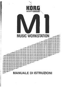 Manuale d'uso Korg M1