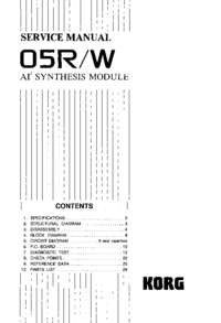 Servicehandboek Korg 05R/W