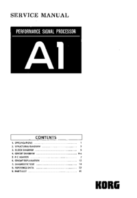 Manual de servicio Korg A1