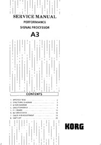 Service Manual Korg A3