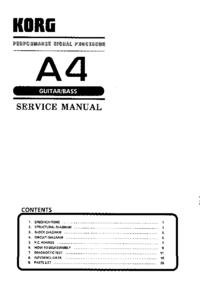 Serviceanleitung Korg A4